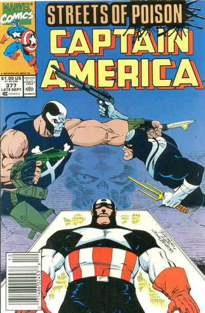 Cover for Captain America (Marvel, 1968 series) #377 [Direct Edition]