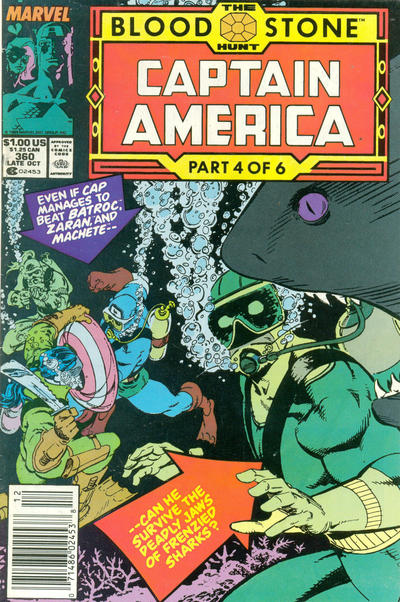 Cover for Captain America (Marvel, 1968 series) #360 [Newsstand Edition]