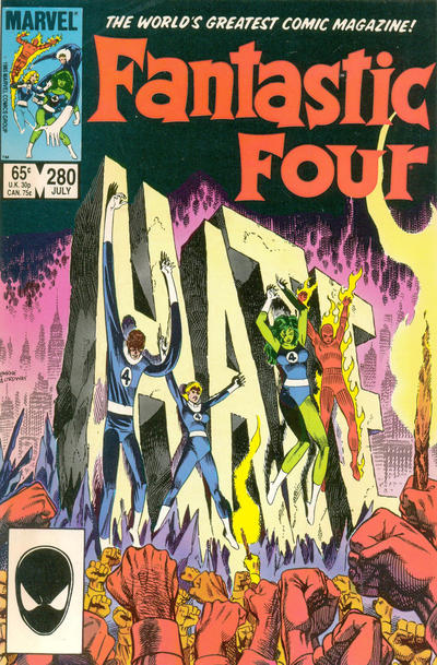 Cover for Fantastic Four (Marvel, 1961 series) #280 [Direct Edition]