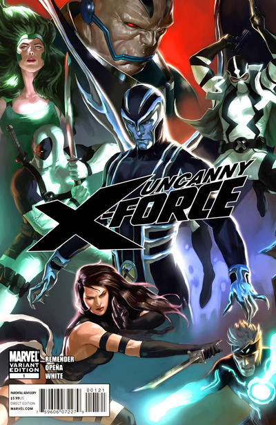 Cover for Uncanny X-Force (Marvel, 2010 series) #1 [Liefeld Variant]