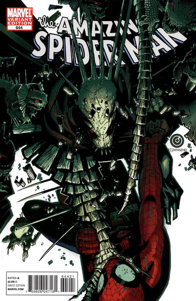 Cover for The Amazing Spider-Man (Marvel, 1999 series) #644 [Chris Bachalo 'Spidey Vs' Variant Cover]