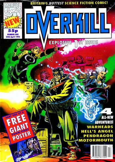 Cover for Overkill (Marvel UK, 1992 series) #1