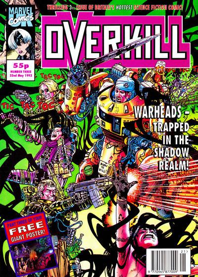 Cover for Overkill (Marvel UK, 1992 series) #3