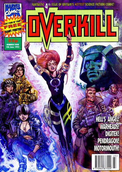 Cover for Overkill (Marvel UK, 1992 series) #4