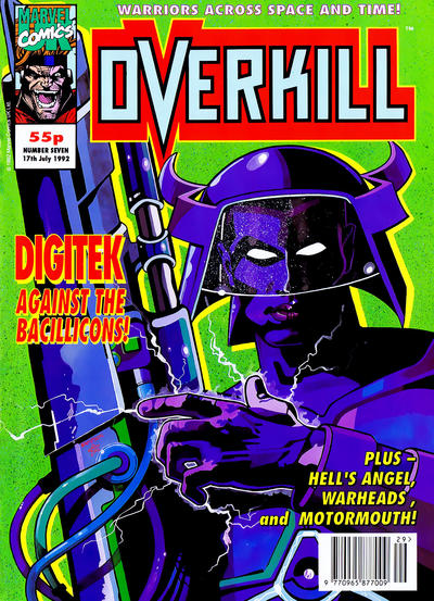 Cover for Overkill (Marvel UK, 1992 series) #7