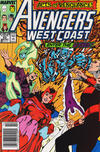 Cover for Avengers West Coast (Marvel, 1989 series) #53 [Newsstand]