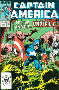 Cover for Captain America (Marvel, 1968 series) #329 [Newsstand]