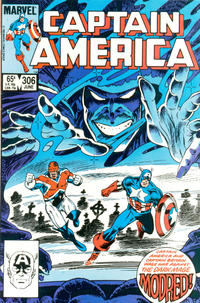 Cover for Captain America (Marvel, 1968 series) #306 [Direct Edition]