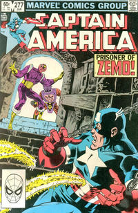Cover for Captain America (Marvel, 1968 series) #277 [Direct Edition]
