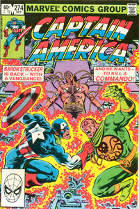 Cover Thumbnail for Captain America (Marvel, 1968 series) #274 [Direct]