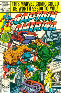 Cover for Captain America (Marvel, 1968 series) #249 [Direct Edition]