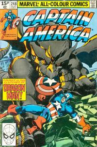 Cover Thumbnail for Captain America (Marvel, 1968 series) #248 [British Price Variant]