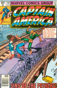 Cover Thumbnail for Captain America (Marvel, 1968 series) #246 [Newsstand Edition]
