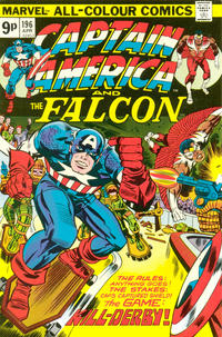 Cover Thumbnail for Captain America (Marvel, 1968 series) #196 [British price variant]