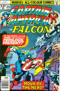 Cover Thumbnail for Captain America (Marvel, 1968 series) #221 [British Price Variant]