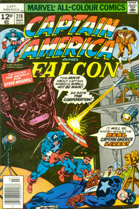 Cover Thumbnail for Captain America (Marvel, 1968 series) #219 [British Price Variant]