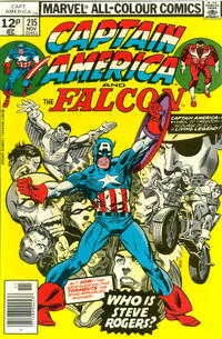 Cover Thumbnail for Captain America (Marvel, 1968 series) #215 [British Price Variant]