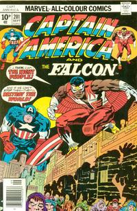 Cover Thumbnail for Captain America (Marvel, 1968 series) #201 [British Price Variant]