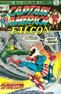 Cover Thumbnail for Captain America (Marvel, 1968 series) #192 [British Price Variant]
