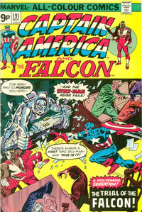 Cover Thumbnail for Captain America (Marvel, 1968 series) #191 [British Price Variant]