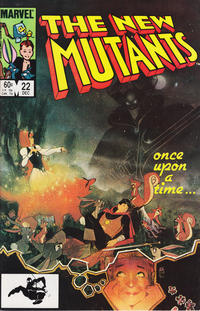 Cover Thumbnail for The New Mutants (Marvel, 1983 series) #22 [Direct Edition]