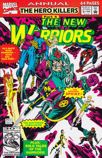 Cover Thumbnail for The New Warriors Annual (Marvel, 1991 series) #2 [Direct]