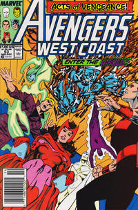 Cover Thumbnail for Avengers West Coast (Marvel, 1989 series) #53 [Newsstand]