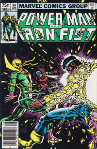 Cover for Power Man and Iron Fist (Marvel, 1981 series) #94 [newsstand 60¢ edition]