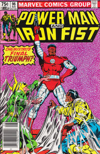 Cover Thumbnail for Power Man and Iron Fist (Marvel, 1981 series) #96 [newsstand 75¢ edition]