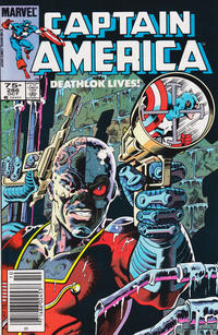 Cover for Captain America (Marvel, 1968 series) #286 [Direct Edition]