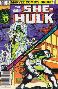 Cover Thumbnail for The Savage She-Hulk (Marvel, 1980 series) #19 [Newsstand]