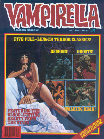 Cover for Vampirella (Warren, 1969 series) #91