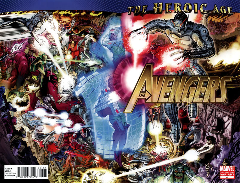 Cover for Avengers (Marvel, 2010 series) #4 [2nd Printing Variant]
