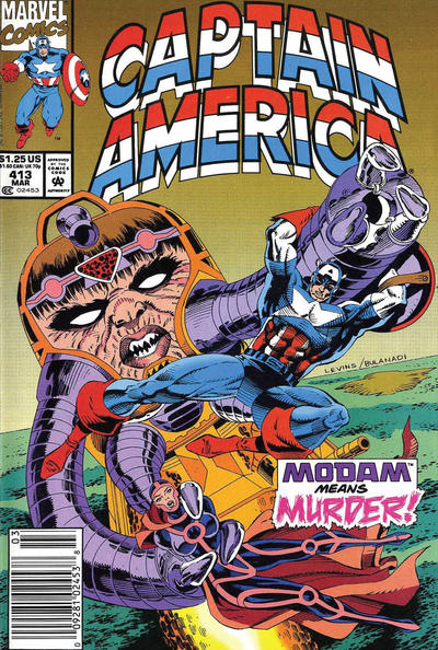 Cover for Captain America (Marvel, 1968 series) #413 [Newsstand Edition]