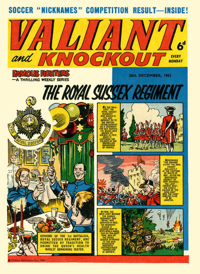 Cover for Valiant and Knockout (IPC, 1963 series) #28 December 1963