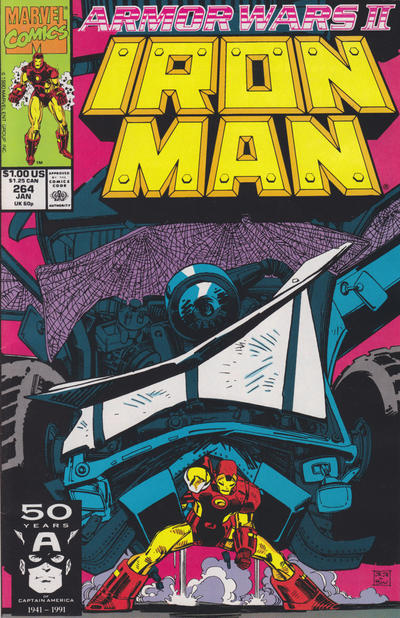 Cover for Iron Man (Marvel, 1968 series) #264 [Newsstand Edition]