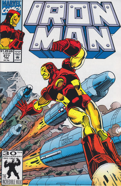 Cover for Iron Man (Marvel, 1968 series) #277 [Newsstand]