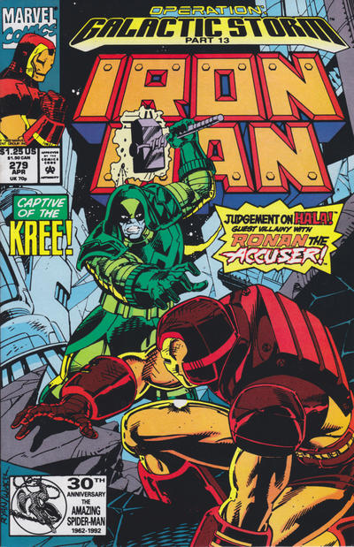 Cover for Iron Man (Marvel, 1968 series) #279 [Newsstand Edition]