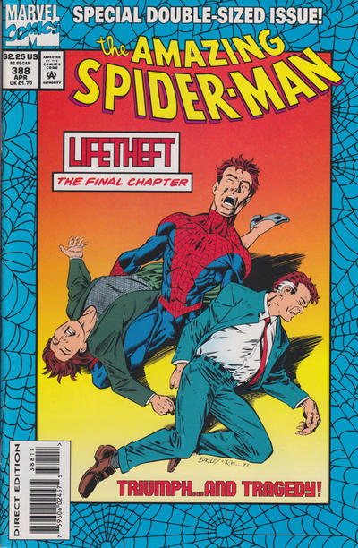 Cover for The Amazing Spider-Man (Marvel, 1963 series) #388 [Foil Embosed cover]