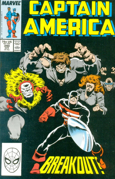 Cover for Captain America (Marvel, 1968 series) #340 [Newsstand Edition]