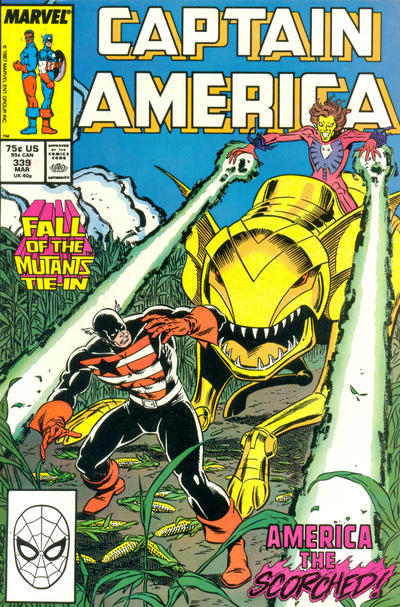 Cover for Captain America (Marvel, 1968 series) #339 [Newsstand Edition]