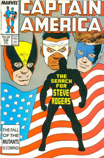 Cover for Captain America (Marvel, 1968 series) #336 [Newsstand Edition]