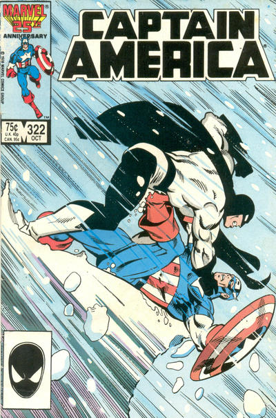 Cover for Captain America (Marvel, 1968 series) #322 [Direct Edition]