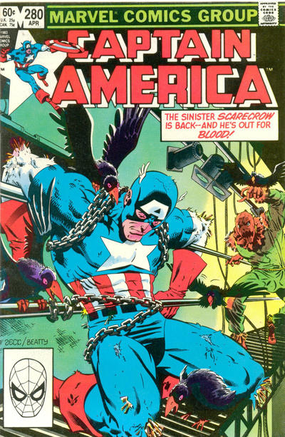 Cover for Captain America (Marvel, 1968 series) #280 [Direct]