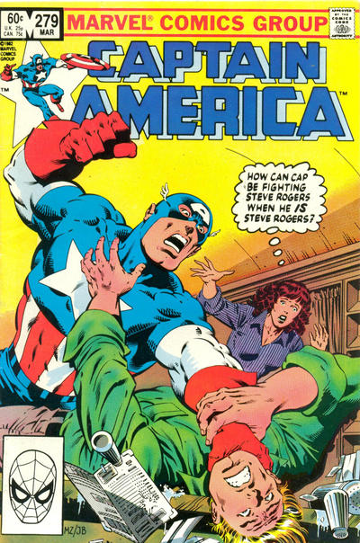 Cover for Captain America (Marvel, 1968 series) #279 [Newsstand Edition]