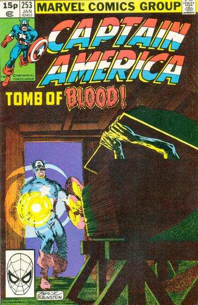 Cover for Captain America (Marvel, 1968 series) #253 [British Price Variant]