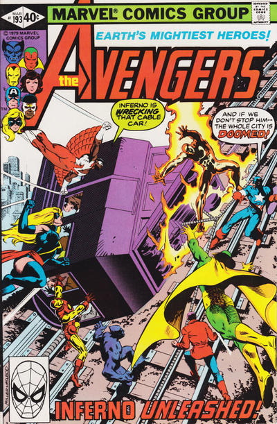Cover for The Avengers (Marvel, 1963 series) #193 [Direct Edition]