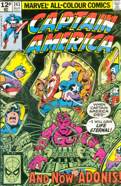 Cover for Captain America (Marvel, 1968 series) #243 [British Price Variant]