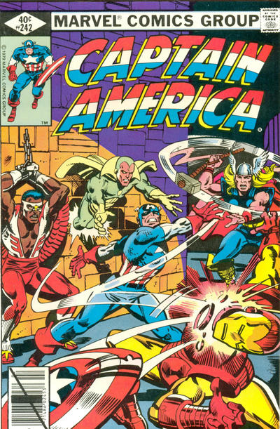 Cover for Captain America (Marvel, 1968 series) #242 [Direct]