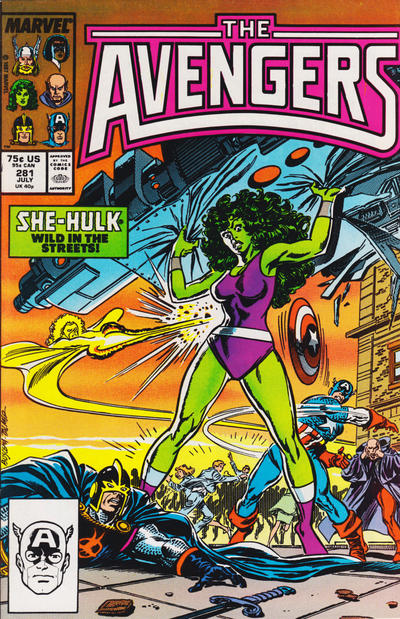 Cover for The Avengers (Marvel, 1963 series) #281 [Direct Edition]